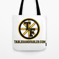boston Tote Bags featuring Boston by Tables and Fables