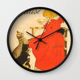 """Théophile Steinlen """"Lait Pur de la Vingeanne Stérilisé"""" Wall Clock"""