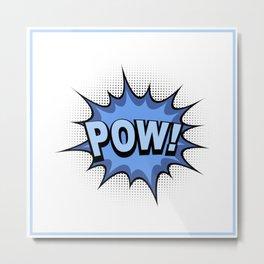 POW! Comic Book Metal Print