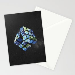 rubik's earth Stationery Cards