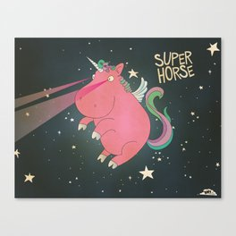 Super Horse... Unicorn Dreams. Canvas Print