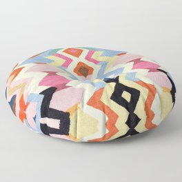 Colored Oriental  Berber Traditional Moroccan Artwork  Floor Pillow