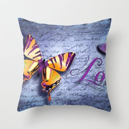 Buterfly Love Throw Pillow