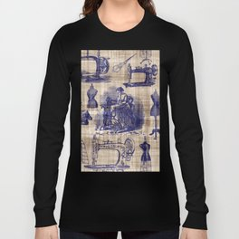 Vintage Sewing Toile Long Sleeve T-shirt