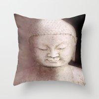 buddah Throw Pillows featuring Buddah 1 by Linda K. Photography & Design