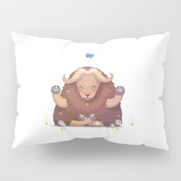 Meditating tibetan yak Pillow Sham