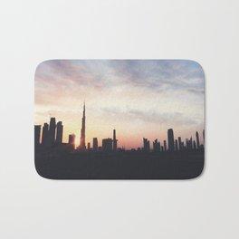 Dubai Skyline Bath Mat