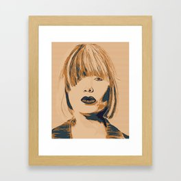 Funky Lady Green #PopArt Framed Art Print