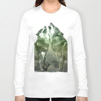 wolves Long Sleeve T-shirts featuring Wolves by YM_Art by Yv✿n / aka Yanieck Mariani