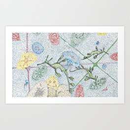 Dragons of the sea Art Print