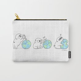 Mochi the pug celebrating Earth day Carry-All Pouch