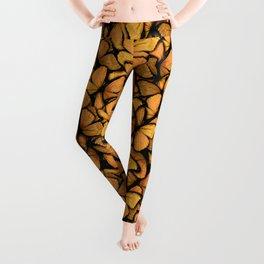 Orange Butterfly Leggings