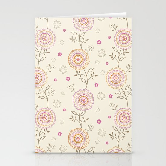 Folky Flowers Stationery Cards