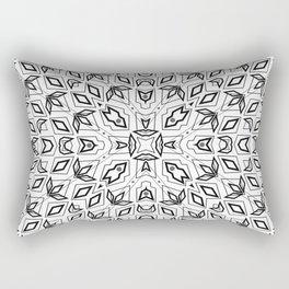 Pattern, geometric 3, black, white Rectangular Pillow