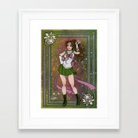 sailor jupiter Framed Art Prints featuring Sailor Jupiter by Teo Hoble