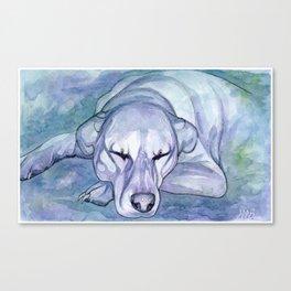 Sleepy Pup Canvas Print