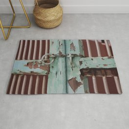 Closed Door Illustration with Chain Rug