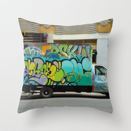 graffiti truck coopers Throw Pillow