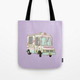 NYC Icecream Truck Lila Tote Bag