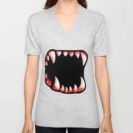 Teeth - Reddened Unisex V-Neck