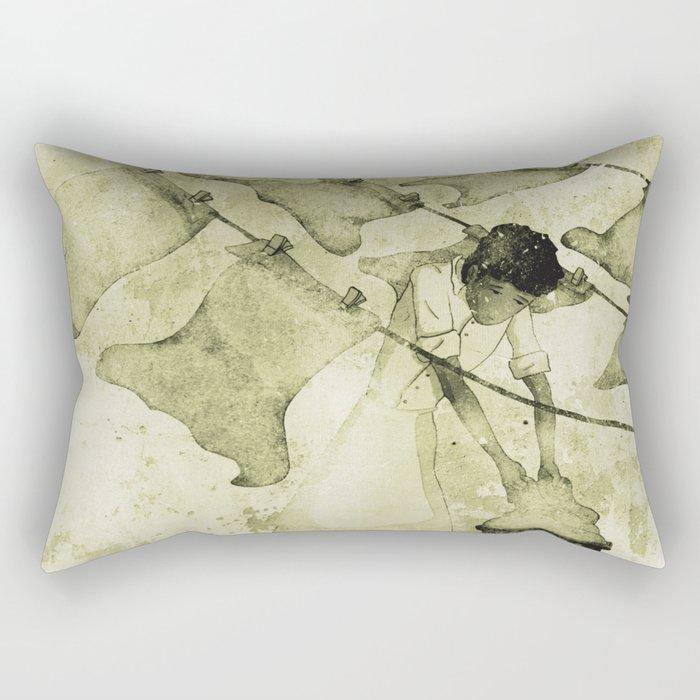 Salt of the earth Rectangular Pillow