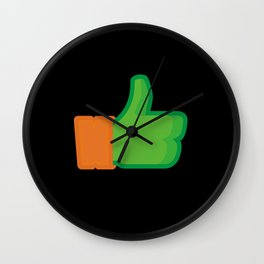 I Like Michelangelo Wall Clock