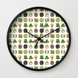St Patricks day pattern Wall Clock