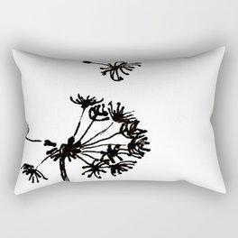 Dandelion Drawing Rectangular Pillow