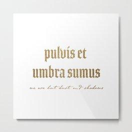 Pulvis Et Umbra Sumus Metal Print