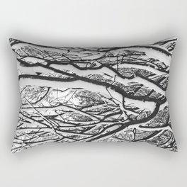 sleepy trees Rectangular Pillow