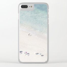Summer Seaside Clear iPhone Case