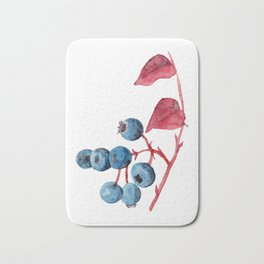 Watercolor Blueberries Bath Mat