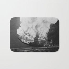 Hindenburg in flames Bath Mat