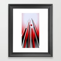 many lines of flight Framed Art Print