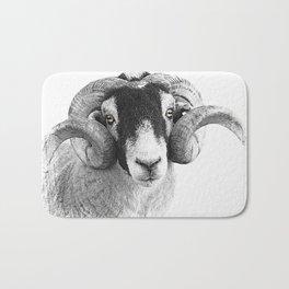 Black and which moorland sheep Bath Mat