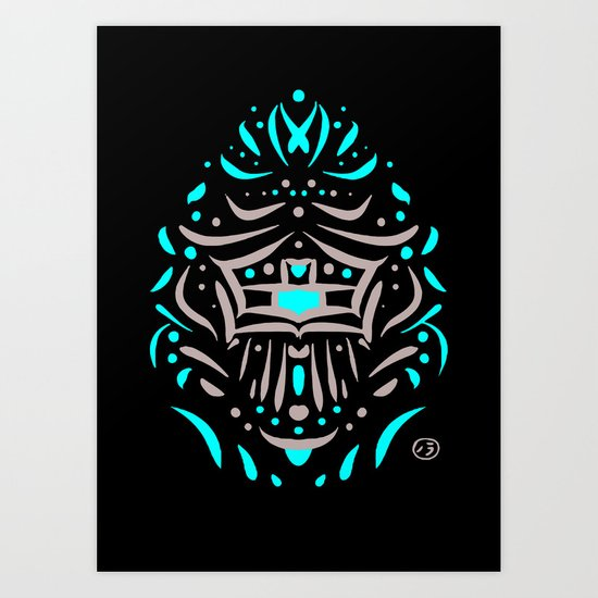 Temple of faces Art Print