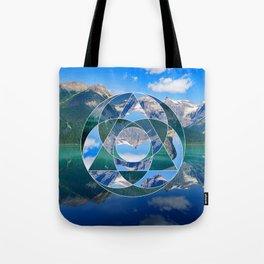 Geometric Landscape Photo Collage Tote Bag