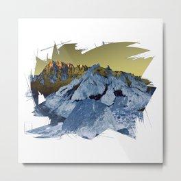 Shining Alps Metal Print