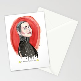 No Love Without Freedom Stationery Cards