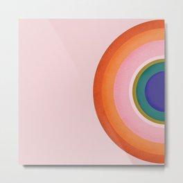 Colorful Half Circle Metal Print