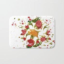 Beautiful Australian Native Floral Graphic Bath Mat