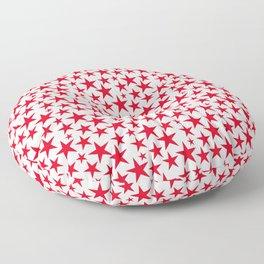 Red stars on white background illustration Floor Pillow