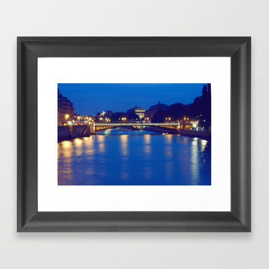 Paris by Night I Framed Art Print