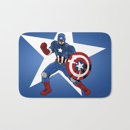 The Captain Strikes A Pose for America Bath Mat