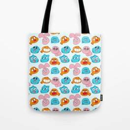 Gumball Faces Pattern Tote Bag