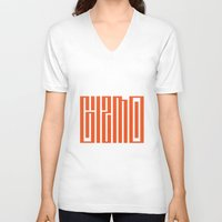 gizmo V-neck T-shirts featuring gizmo by Smith Reid