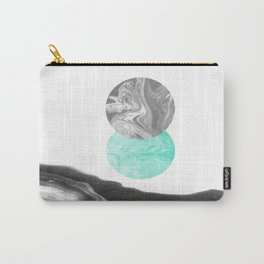 Suno - nature space planet marble abstract painting japanese marble watercolor paper marbling pastel Carry-All Pouch