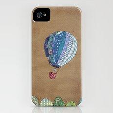 Blue hot air balloon iPhone (4, 4s) Slim Case