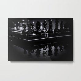 Contemplating Your Next Move when reflecting make sure your memories are clear Metal Print