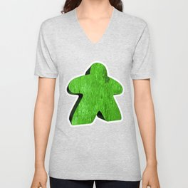 Giant Green Meeple Unisex V-Neck